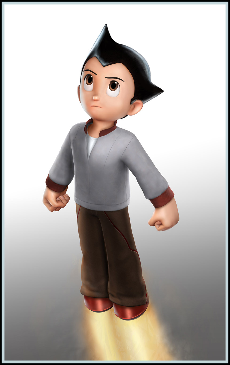 Digital Paint Over Maquette Astro Boy The Movie Action Figure Original Jakerowell Astroboy V2 Pg3