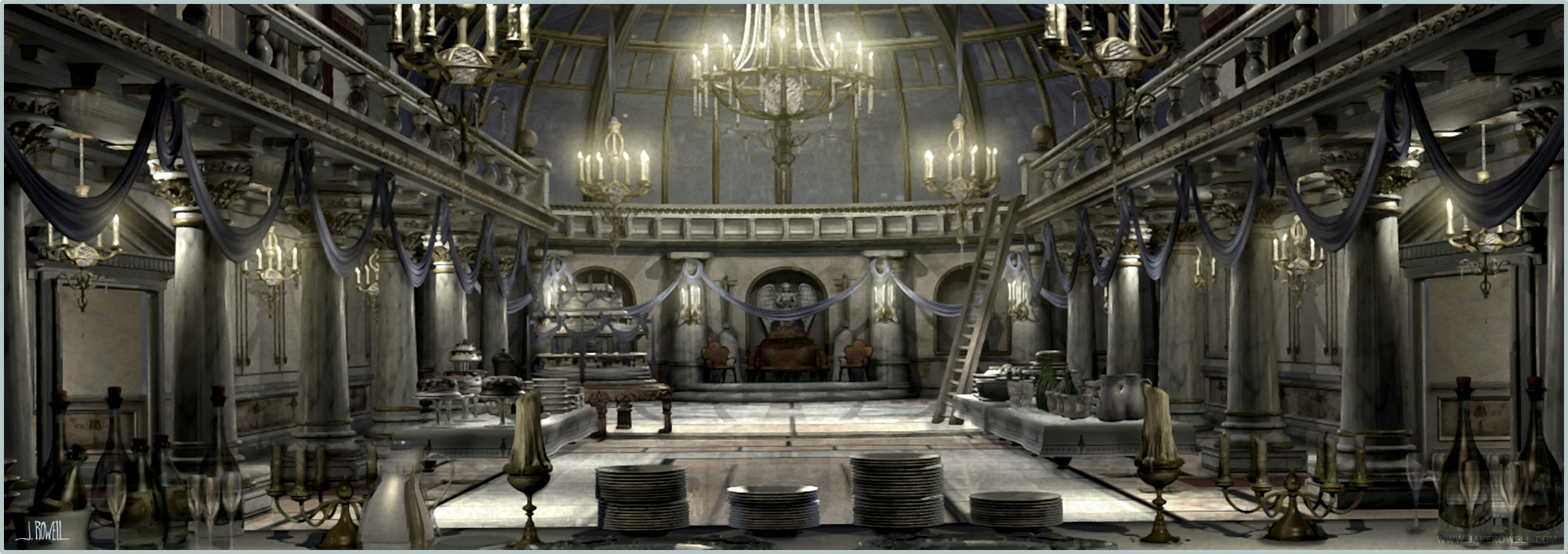 Great Hall Video Game Concept Design