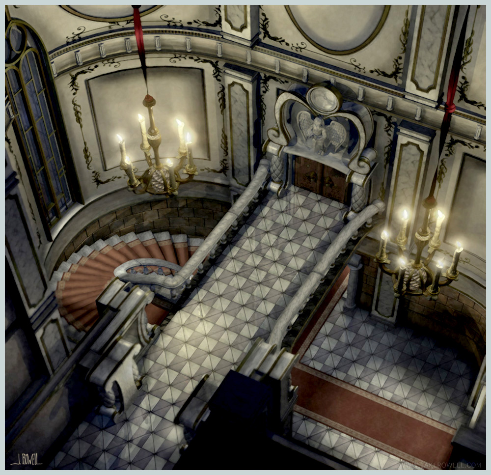 Final fantasy ix castle inside art jake l rowell for Castle interior designs