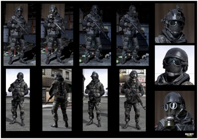 © Activision / Infinity Ward --- Jake Rowell = Character Art  & Marketing Image /  Taehoon Oh, Peter Chen, Gennady Babichenko = Weapon Art
