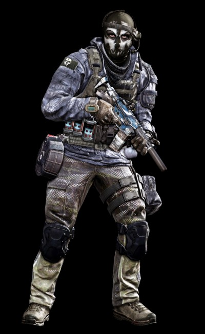 © Activision / Infinity Ward --- Jake Rowell = Art Lead  & Marketing Image / Nghia Lam = Character Art / Steven Giesler & Jake Rowell = Head Art / Sean Byers = Weapon Art