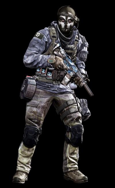 © Activision / Infinity Ward --- Jake Rowell = Art Lead  & Marketing Image / Nghia Lam = Character Art / Steven Giesler & Jake Rowell = Head Art / Sean Byers = Weapon Art