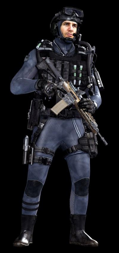 © Activision / Infinity Ward --- Jake Rowell = Art Lead  & Marketing Image / Bumjin Lee = Character Art / Steven Giesler & Jake Rowell = Head Art / Gennady Babichenko = Weapon Art