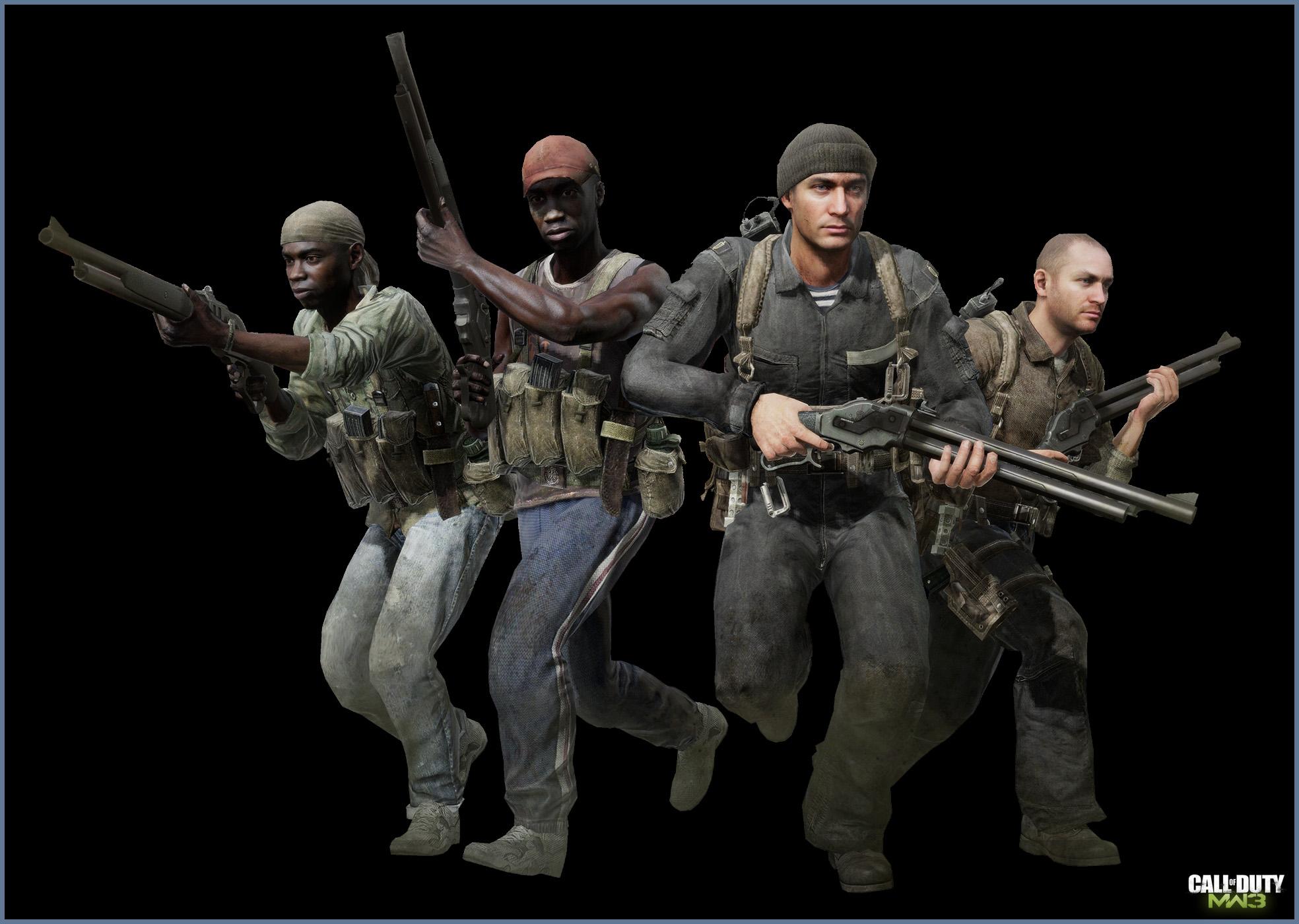 Call Of Duty Modern Warfare 3 Posed Characters Art Jake L